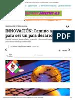 INNOVACIÓN_ Camino a Seguir Para Ser Un País Desarrollado - Journal FeedingBack