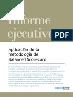 BSC - Aplicación de La Metodología BSC