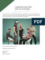 Los Cinco Jóvenes Argentinos Que Están Cambiando El Mundo Con Tecnología - 01.10