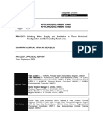 Central African Republic - Project for Drinking Water Supply and Sanitation in three Divisional Headquarters and Surrounding Rural Areas.pdf