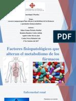 Efectos Fisiopatologicos y Parámetros Farmacocinéticas