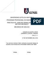 Práctica N°6 - Análisis granulométrico - Método mecánico