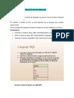 Acceso a La Base de Datos en Un Lenguaje Tema 3