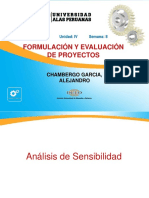 Semana 8.1. Formulacion y Evaluacion de Proyectos- Analisis de Sensibilidad