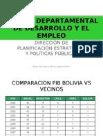 El Plan Departamental de Desarrollo y El Empleo