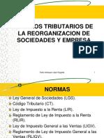 Aspectos Tributarios de La Reorganización de Sociedades y Empresa