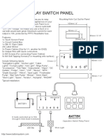 Capacitive Relay Switch Panel Specification
