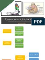 Toraconcentesis, Intubación rápida