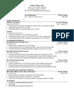 resume for mtf 9-14