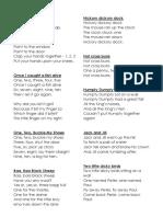 Rhyme List
