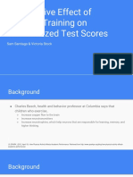 the postive effect of strength training on standardized test scores