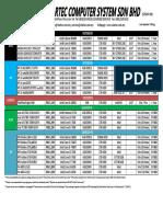 StarTec Price List