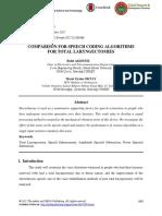 Comparison for Speech Coding Algorithms