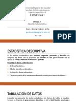 Unidad 2 - Estadística I