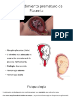 Desprendimiento Prematuro de Placenta
