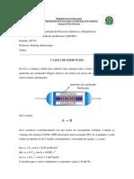Lista 1 Cinética de Reatores