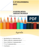 Effectiveness Communication Skills