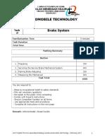 6 Task D- Brake System