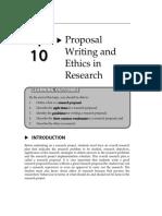 Topic10-ProposalWritingandEthicsinResearch
