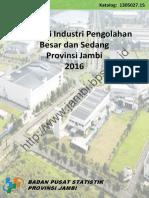 Direktori Industri Pengolahan Besar Dan Sedang Provinsi Jambi 2016
