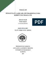 PENGGUNAAN LASER ABLATIF FRAKSIONAL PADA KERIPUT DAN SKAR ACNE.docx