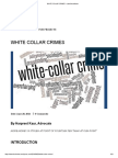 White Collar Crimes – Lawschoolnotes