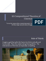 10 compositional Theories of Cinematography