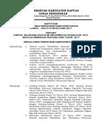 Susunan Panitia Pelaksana Kegiatan Implementasi Kurikulum 2013 Sekolah Menengah Pertama (SMP) Kabupaten Kapuas Tahun 2017