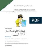 Doa Sebelum Dan Sesudah Wudhu Lengkap Arab Latin Indonesia