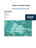 Question Paper Generator_SRS