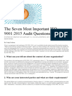 The Seven Most Important ISO 9001_2015 Audit Questions - The Auditor