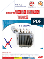 Catalogo de Transformadores Distribucion Trifasicos en Aceite Amv Electric