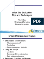 Shade Measurements Aug 2010