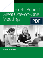 The Secrets Behind Great One on One Meetings