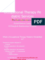 Occupational Therapy Pediatric Services