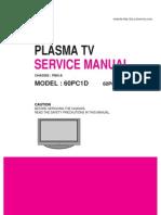 Lg Tv Plasma 60pc1d 60pc1d Service Manual