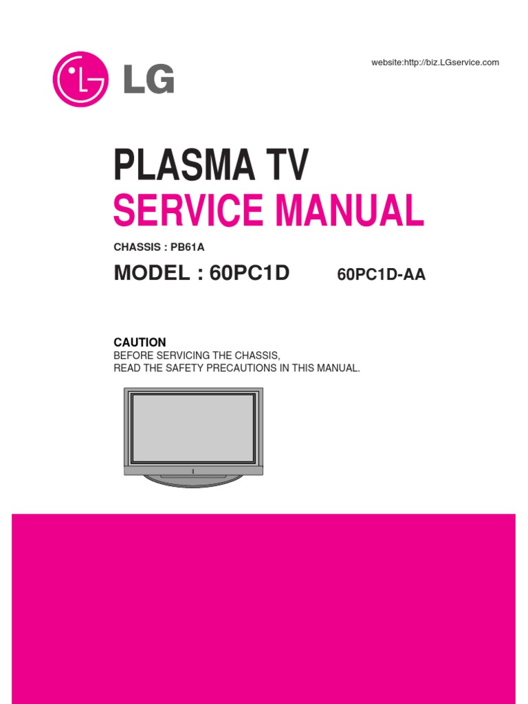 lg tv plasma 60pc1d 60pc1d service manual rh scribd com manual tv plasma lg manual tv plasma lg 42pg20r