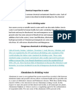 Chemical Impurities in Water