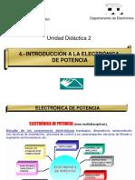 Tema 4. Introducción a La Electrónica de Potencia