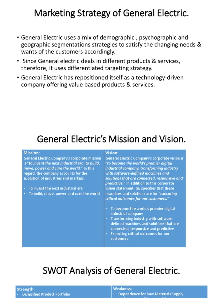 An analysis of the next head of general electric