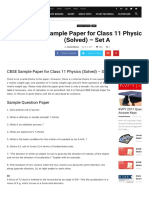 Set a Questions Physics