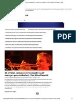 10 Errores Comunes en Trompetistas (Y Consejos Para Evitarlos)