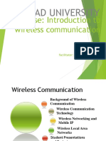 Lec 1 - Introduction to Wireless Communication