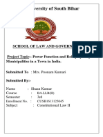 Project of Constitutional Law (Shaan Kumar)