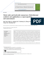 Metal Oxide and Hydroxide Nanoarrays, Hydrothermal Synthesis and Applications as Supercapacitors and Nanocatalysts