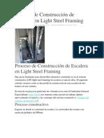 Proceso de Construcción de Escalera en Light Steel Framing