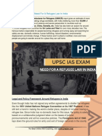 Current Affairs for IAS Exam (UPSC Civil Services) | Need for a refugee law in India - Best Online IAS Coaching by Prepze