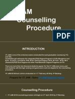 IIT JAM Counselling Procedure