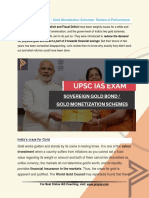 Current Affairs for IAS Exam (UPSC Civil Services) | Sovereign gold bond and gold monetization schemes  review of performance - Best Online IAS Coaching by Prepze