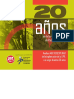 Libro 20 años UGT. Sindicato obrero español. Spain.